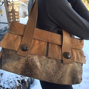 Kooba snakeskin and leather purse